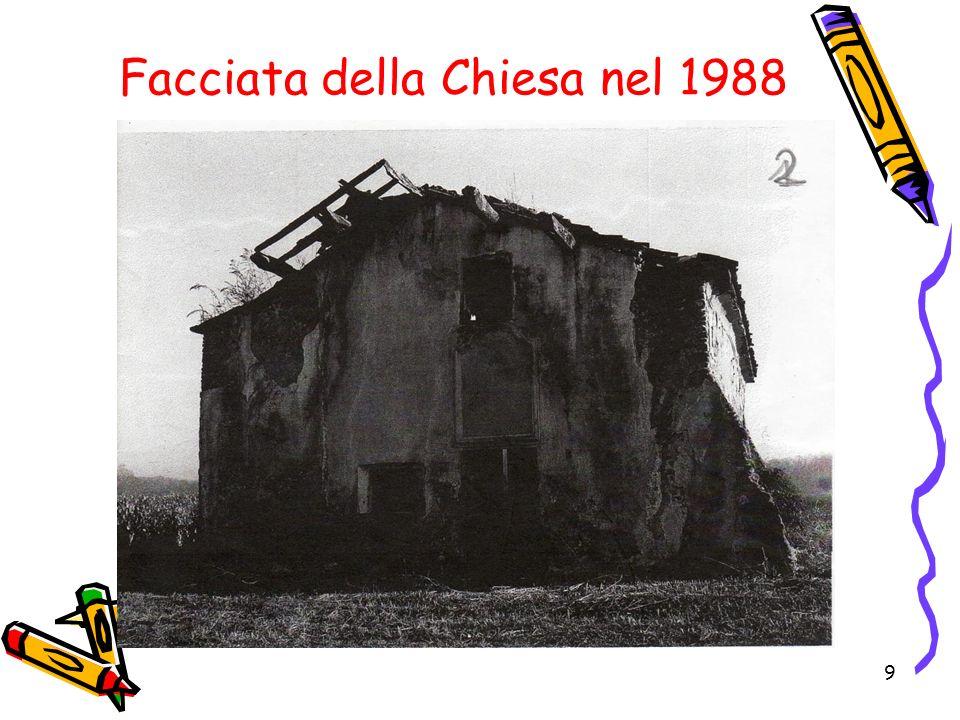 9 Facciata della Chiesa nel 1988