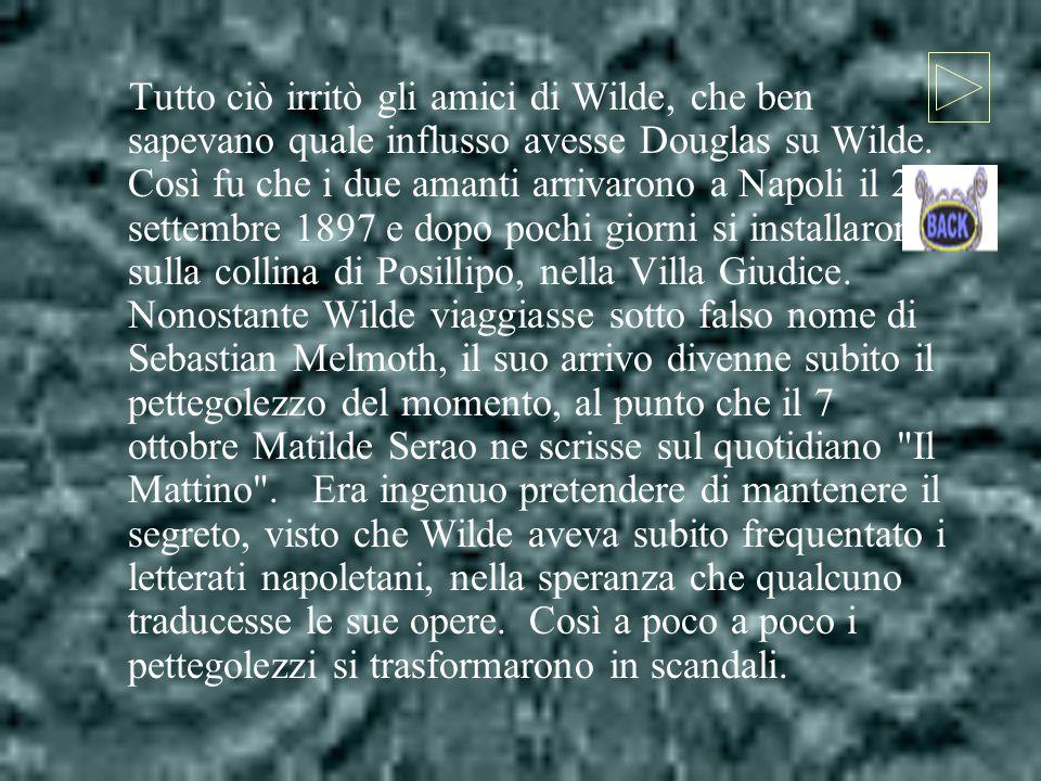 E' passato un secolo da quando Oscar Wilde (1854-1900), reduce da due anni di carcere inflittigli per la sua omosessualità decise di venire in Italia