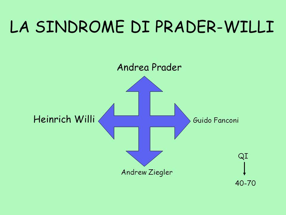 LA SINDROME DI PRADER-WILLI Andrea Prader Heinrich Willi Andrew Ziegler Guido Fanconi QI 40-70