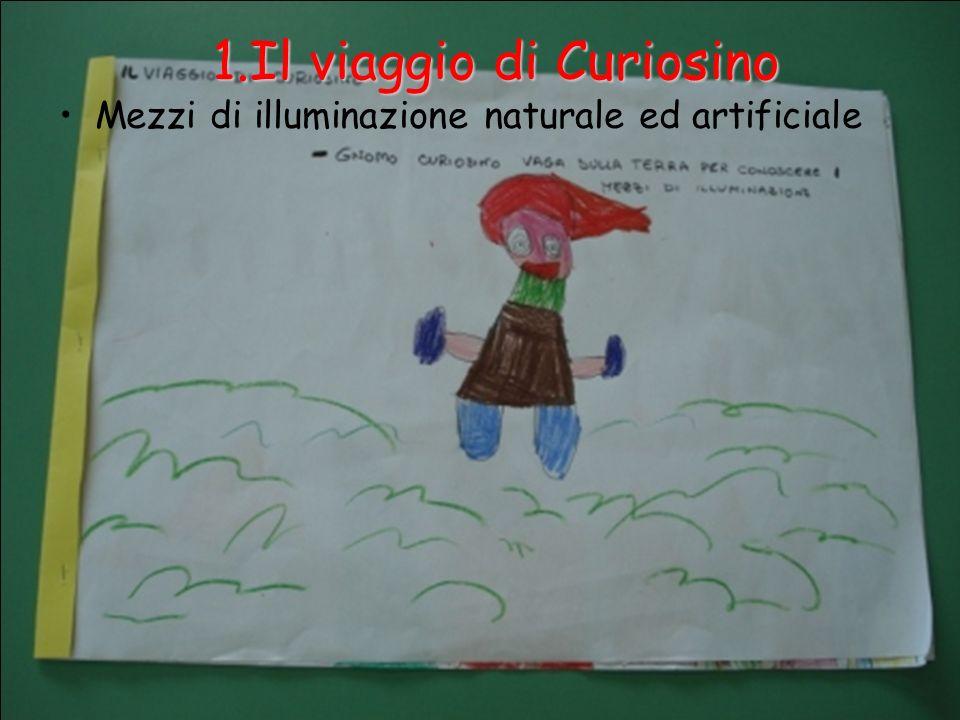 1.Il viaggio di Curiosino Mezzi di illuminazione naturale ed artificiale