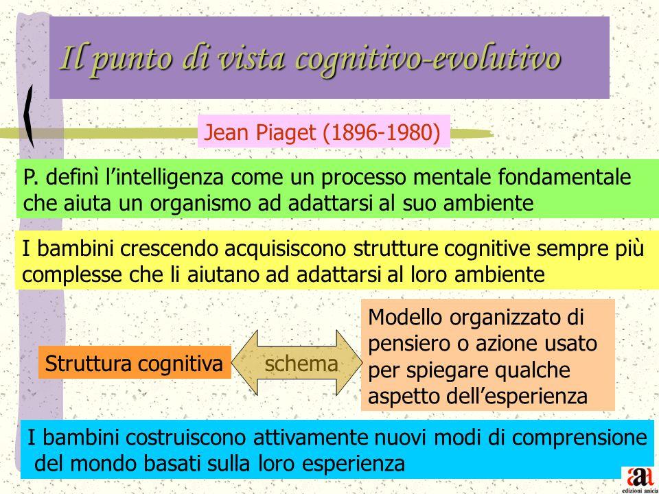Il punto di vista cognitivo-evolutivo Jean Piaget (1896-1980) P.