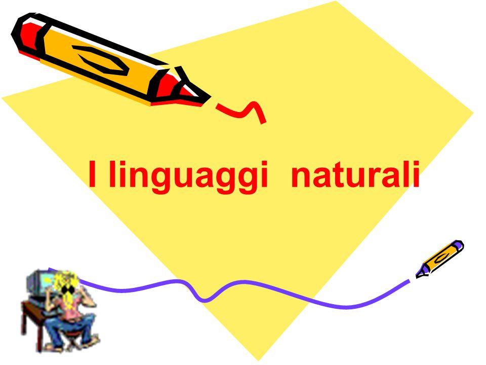 Linguaggi naturali e linguaggi formali Sistemi formali