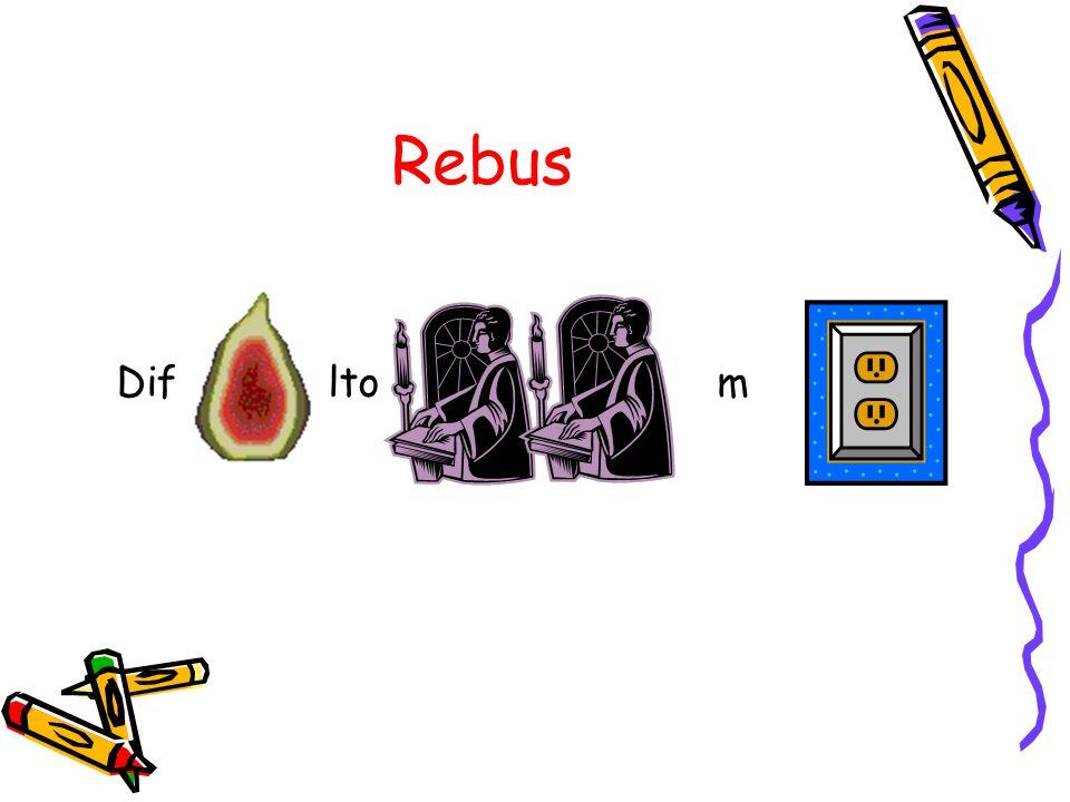 E il caso dei rebus dove immagini e caratteri messi nel modo corretto portano ad una frase di senso compiuto