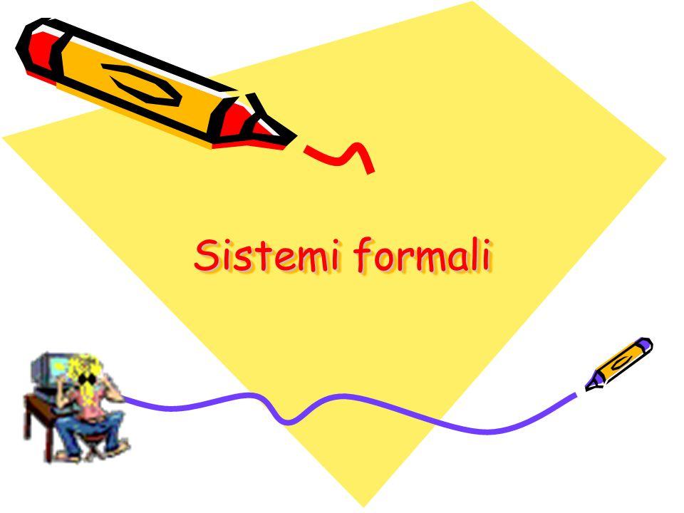 Come si può vedere questo linguaggio formale fa parte di un Sistema Formale