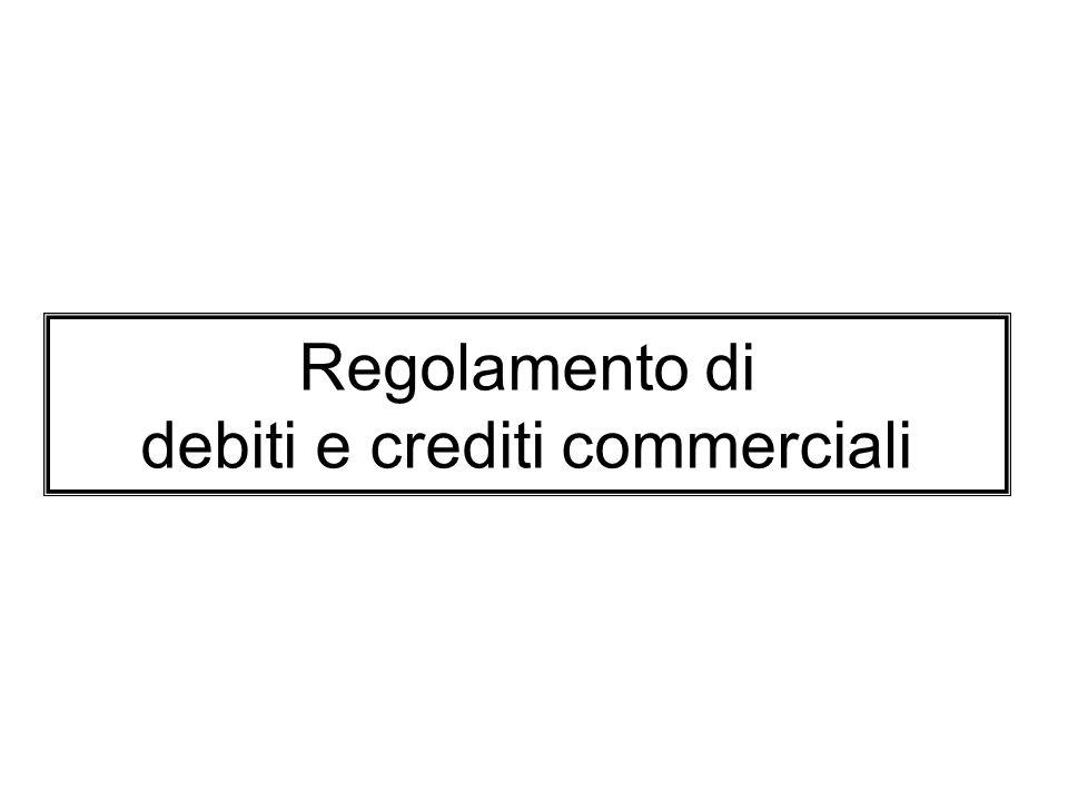 Regolamento di debiti e crediti commerciali