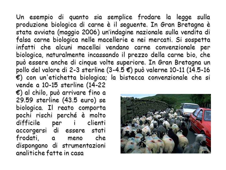 Un esempio di quanto sia semplice frodare la legge sulla produzione biologica di carne è il seguente.