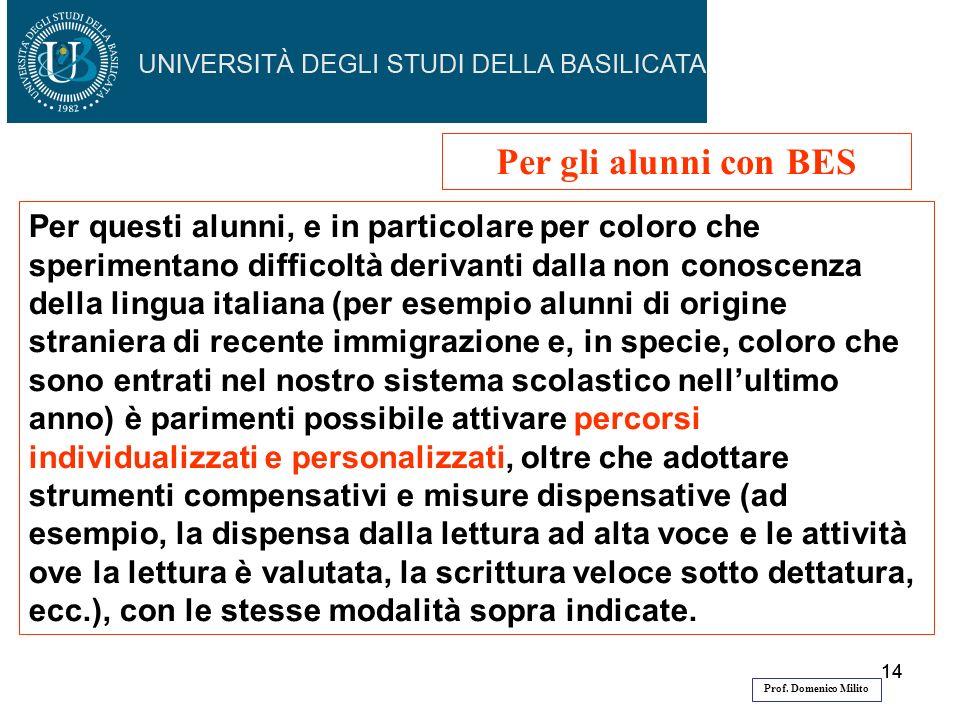 14 Per questi alunni, e in particolare per coloro che sperimentano difficoltà derivanti dalla non conoscenza della lingua italiana (per esempio alunni