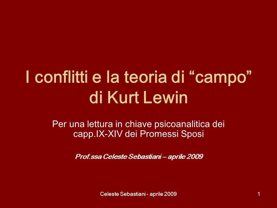 Celeste Sebastiani - aprile 20091 I conflitti e la teoria di campo di Kurt Lewin Per una lettura in chiave psicoanalitica dei capp.IX-XIV dei Promessi