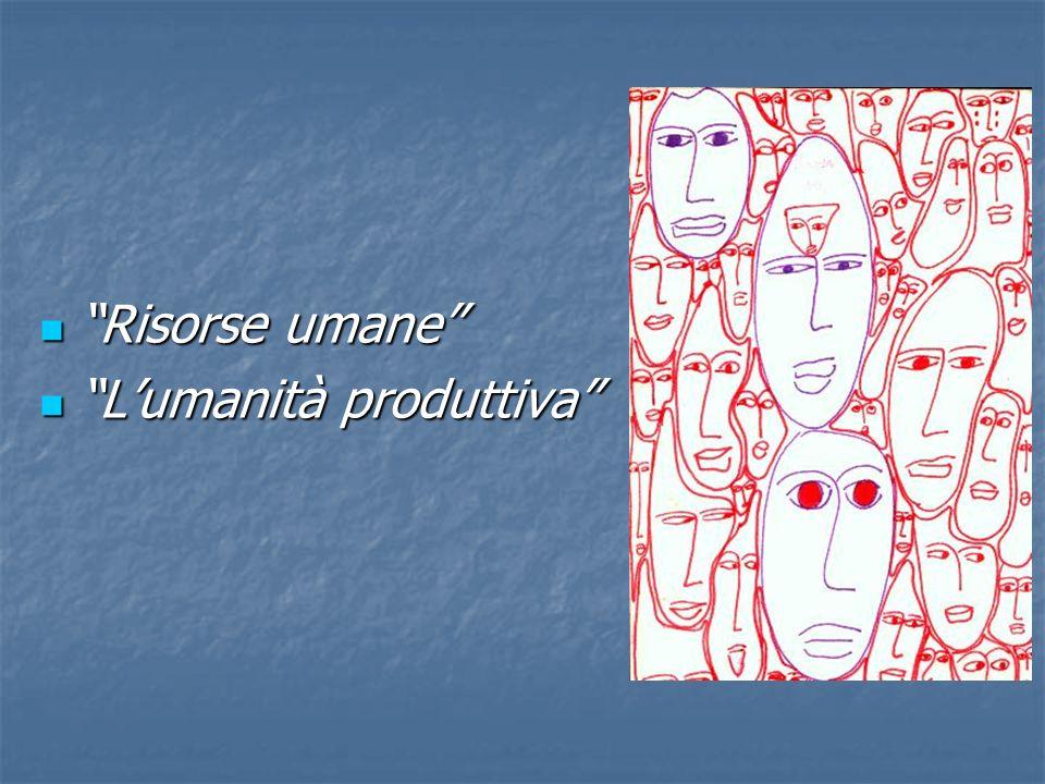 Risorse umane Risorse umane Lumanità produttiva Lumanità produttiva