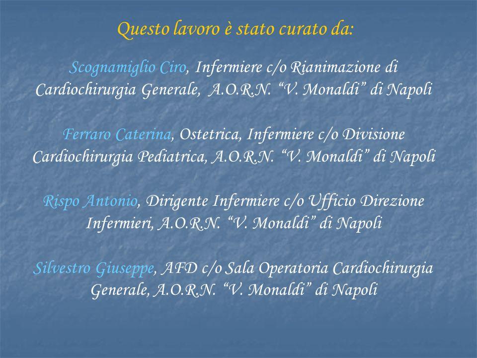 Scognamiglio Ciro, Infermiere c/o Rianimazione di Cardiochirurgia Generale, A.O.R.N.
