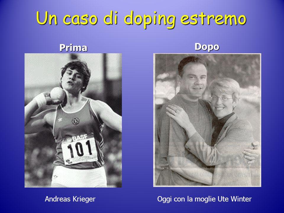 Un caso di doping estremo Prima Dopo Andreas Krieger Oggi con la moglie Ute Winter