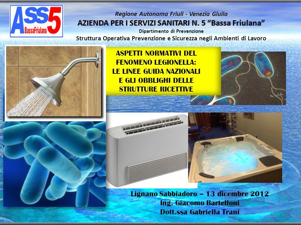 AZIENDA PER I SERVIZI SANITARI N. 5 Bassa Friulana Regione Autonoma Friuli - Venezia Giulia AZIENDA PER I SERVIZI SANITARI N. 5 Bassa Friulana Diparti