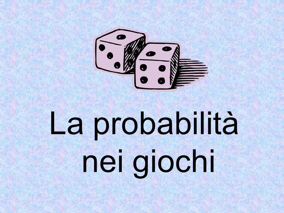 La definizione di probabilità P(E) di un evento E è il rapporto tra il numero n f di casi favorevoli al verificarsi di E ______________________________________ il numero n p dei casi possibili, Casi giudicati tutti egualmente probabili.