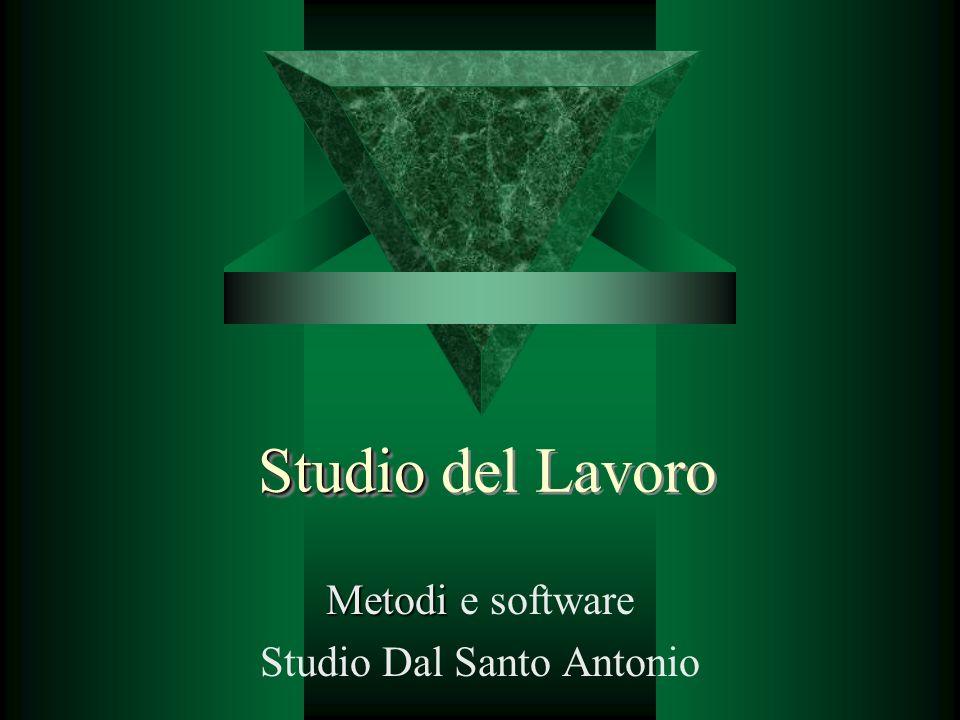 Studio Studio del Lavoro Metodi Metodi e software Studio Dal Santo Antonio