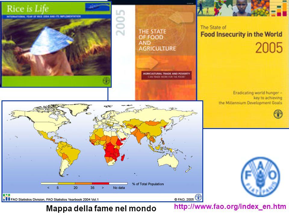 http://www.fao.org/index_en.htm Mappa della fame nel mondo