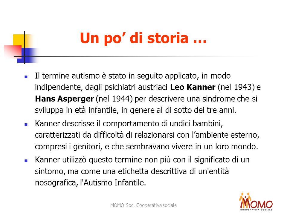 MOMO Soc. Cooperativa sociale Un po di storia … Il termine autismo è stato in seguito applicato, in modo indipendente, dagli psichiatri austriaci Leo