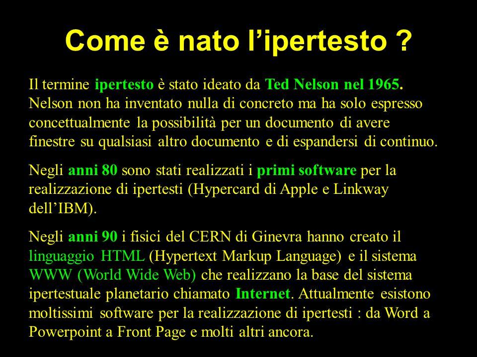 Istituto Professionale di Cupra Marittima - Prof. Marina Marziale Come è nato lipertesto ? Il termine ipertesto è stato ideato da Ted Nelson nel 1965.