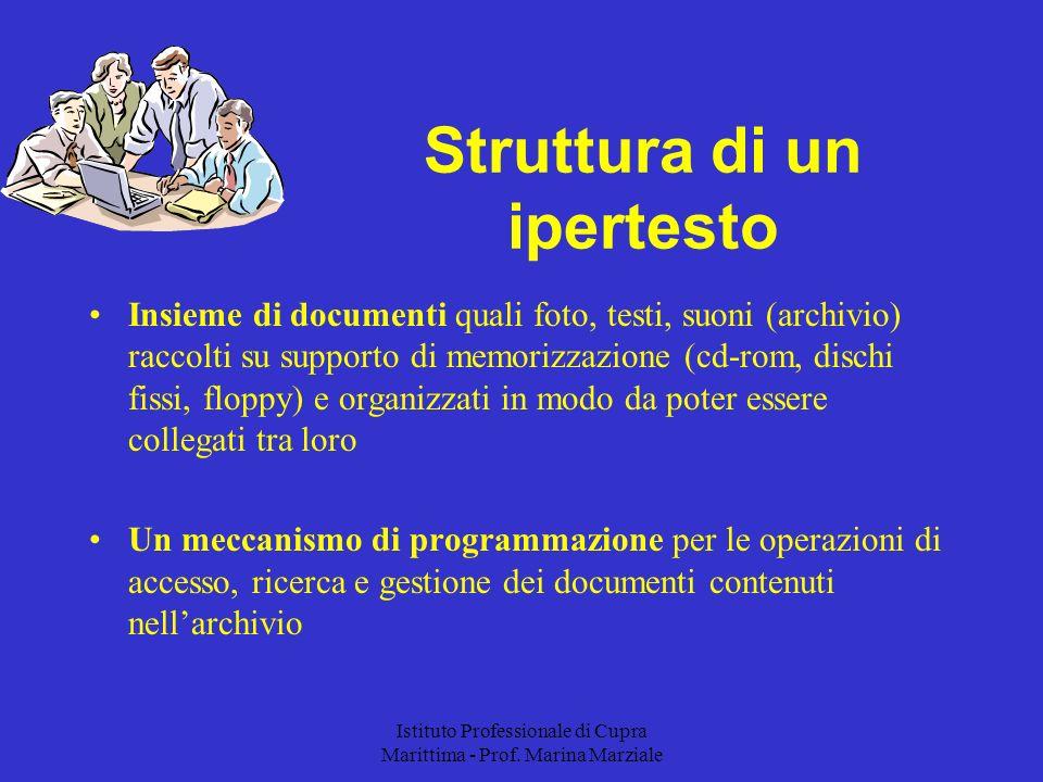 Istituto Professionale di Cupra Marittima - Prof. Marina Marziale Insieme di documenti quali foto, testi, suoni (archivio) raccolti su supporto di mem
