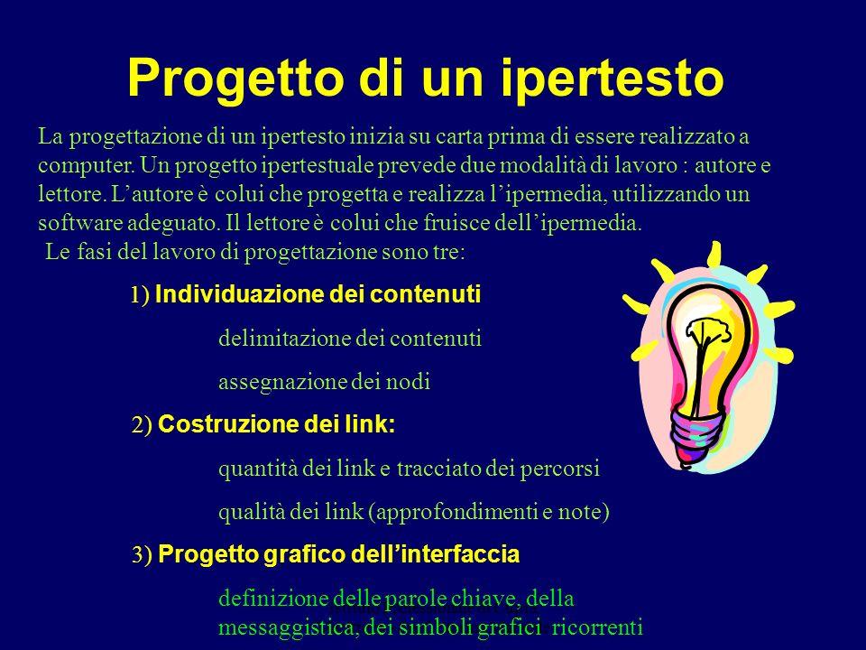 Istituto Professionale di Cupra Marittima - Prof. Marina Marziale Progetto di un ipertesto La progettazione di un ipertesto inizia su carta prima di e
