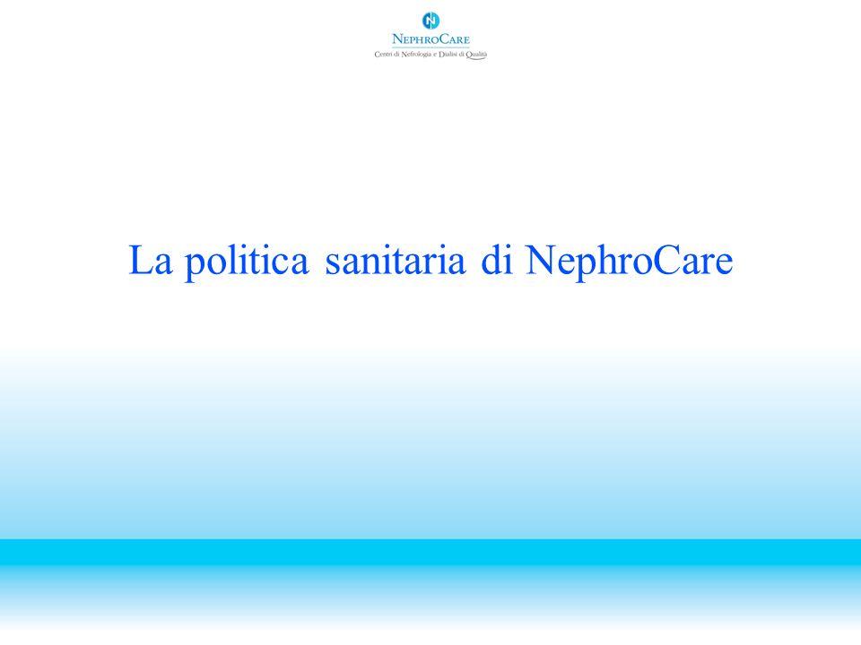 La politica sanitaria di NephroCare