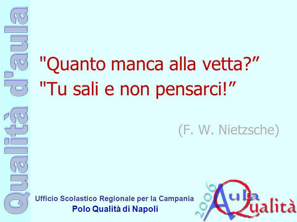 Ufficio Scolastico Regionale per la Campania Polo Qualità di Napoli COSA RILEVANO I TEST.