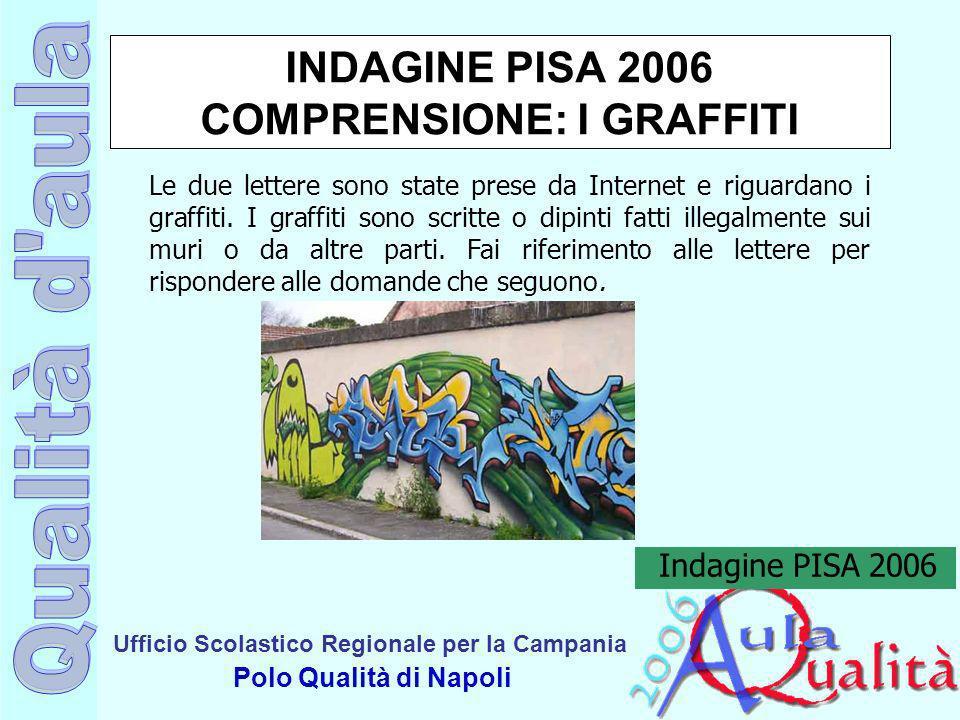 Ufficio Scolastico Regionale per la Campania Polo Qualità di Napoli INDAGINE PISA 2006 COMPRENSIONE: I GRAFFITI Le due lettere sono state prese da Int