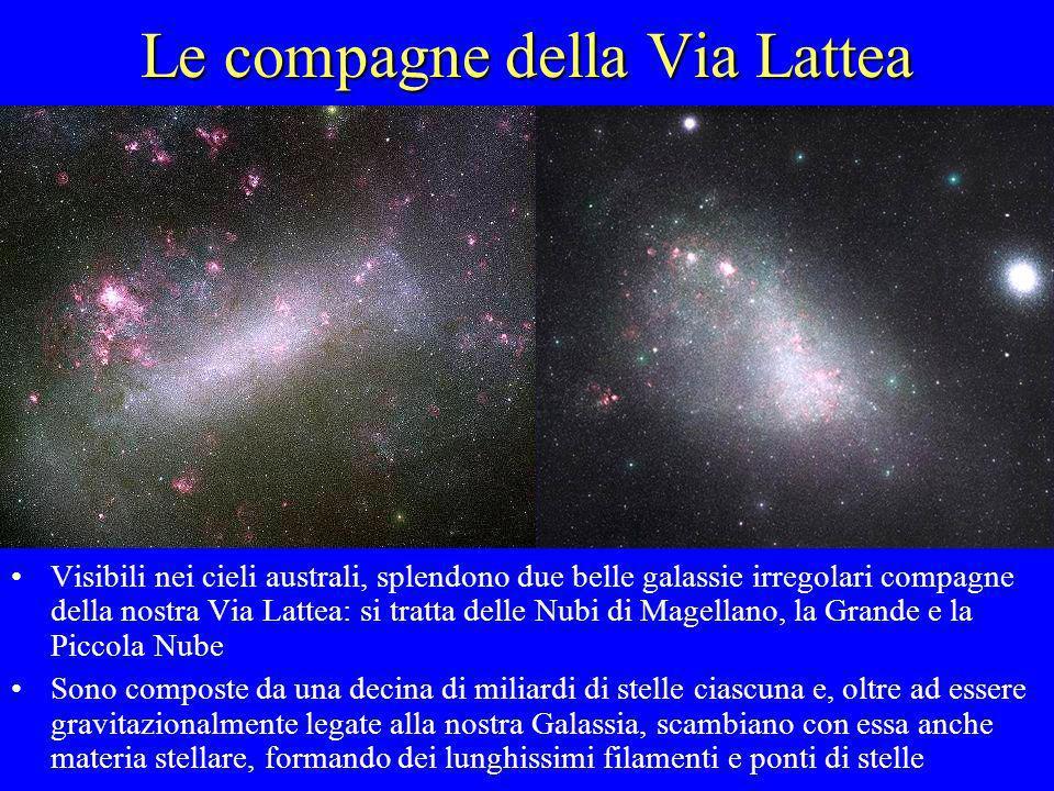 Le compagne della Via Lattea Visibili nei cieli australi, splendono due belle galassie irregolari compagne della nostra Via Lattea: si tratta delle Nu
