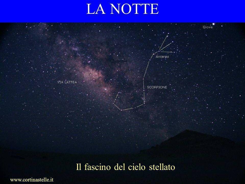 LA NOTTE Il fascino del cielo stellato www.cortinastelle.it