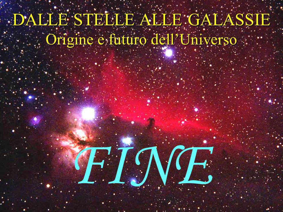 DALLE STELLE ALLE GALASSIE Origine e futuro dellUniverso FINE