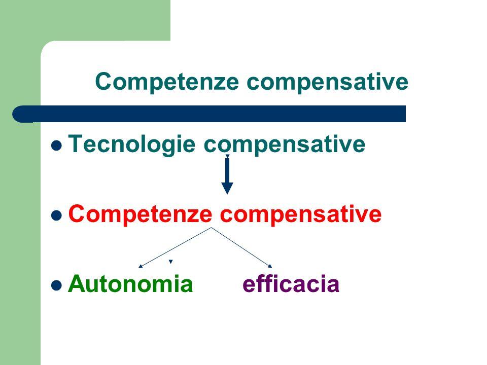 Competenze compensative Tecnologie compensative Competenze compensative Autonomia efficacia