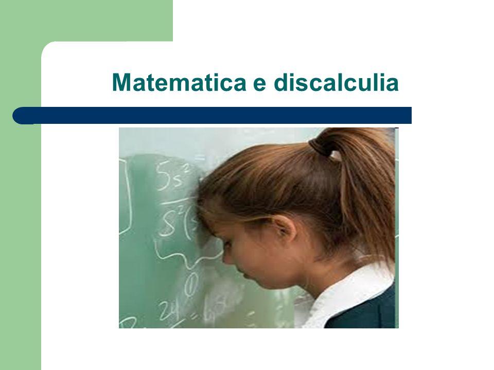 Matematica e discalculia
