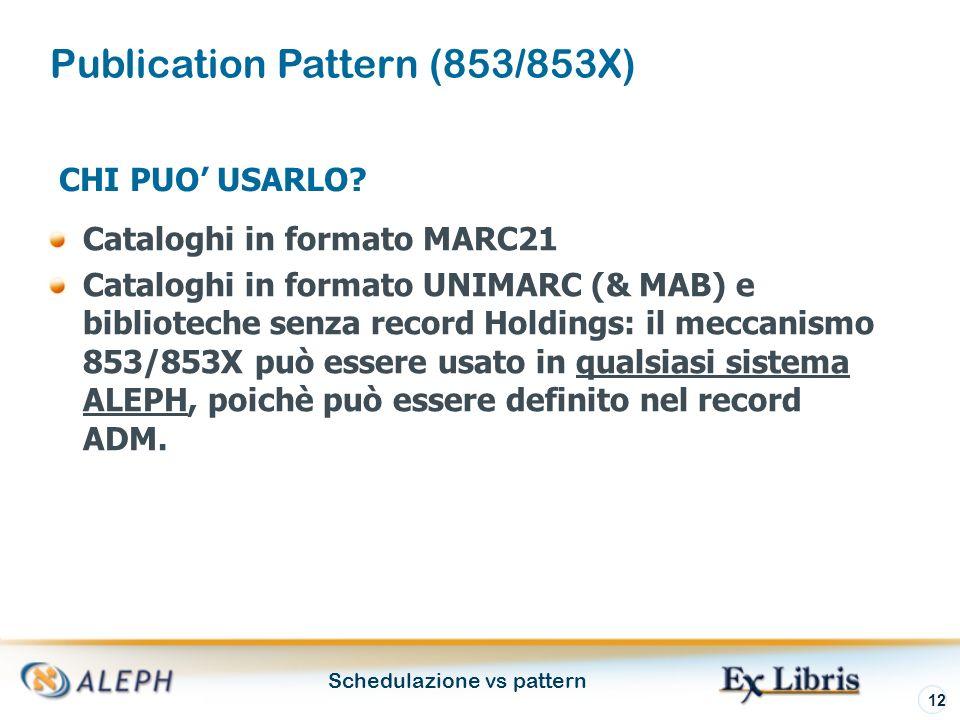 Schedulazione vs pattern 12 CHI PUO USARLO.