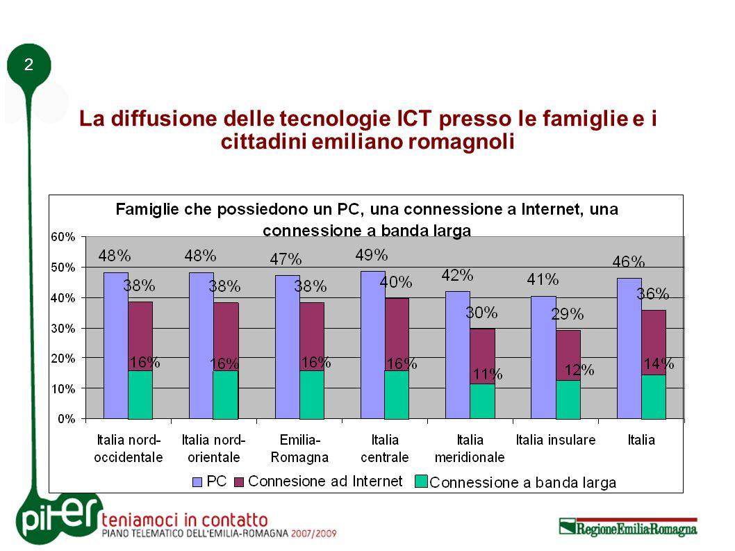 2 La diffusione delle tecnologie ICT presso le famiglie e i cittadini emiliano romagnoli
