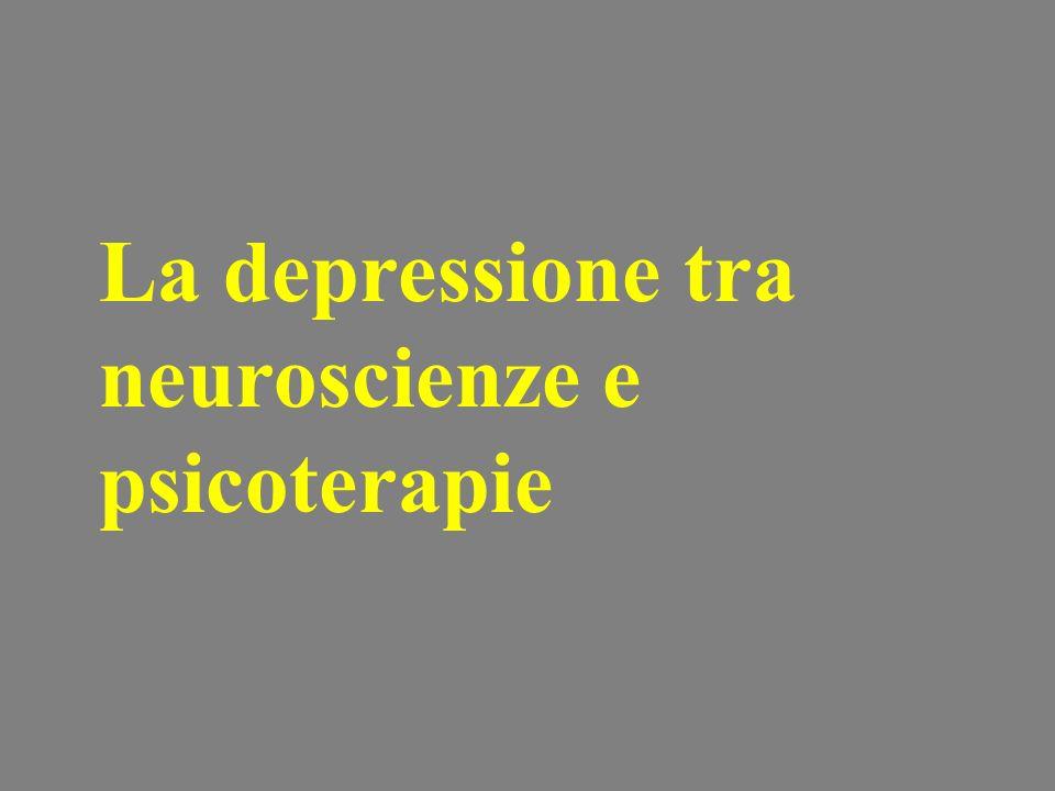 La depressione tra neuroscienze e psicoterapie
