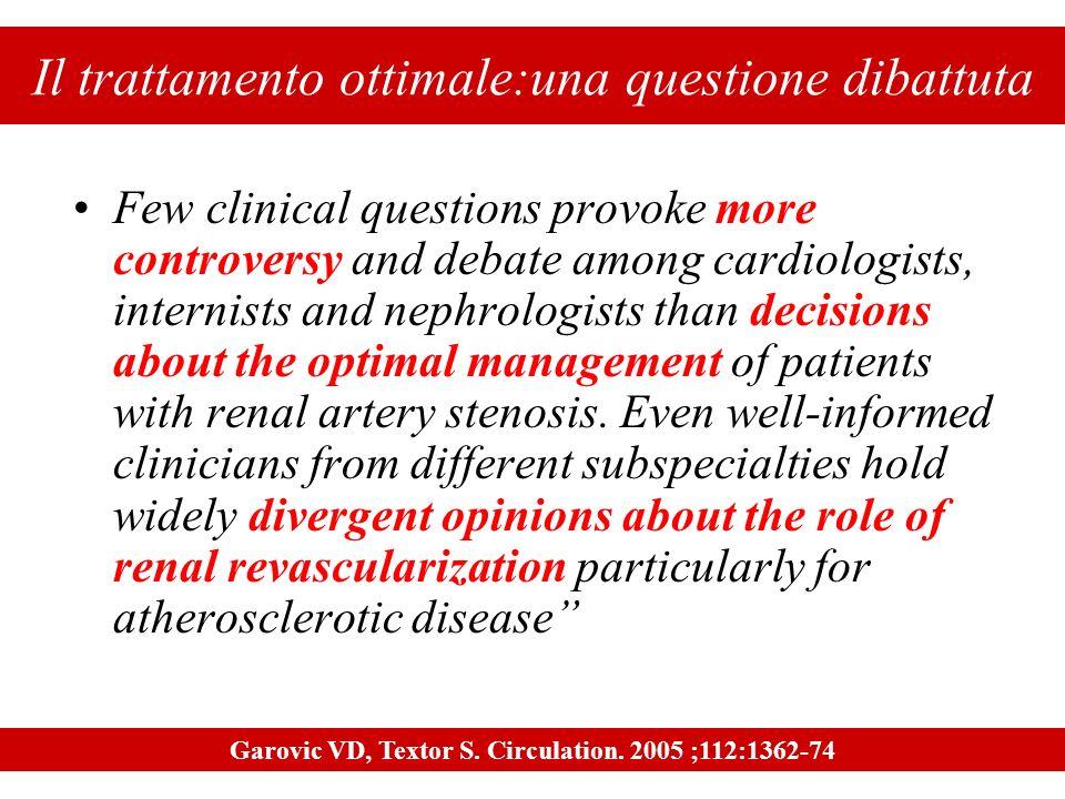 Il trattamento ottimale:una questione dibattuta Few clinical questions provoke more controversy and debate among cardiologists, internists and nephrol