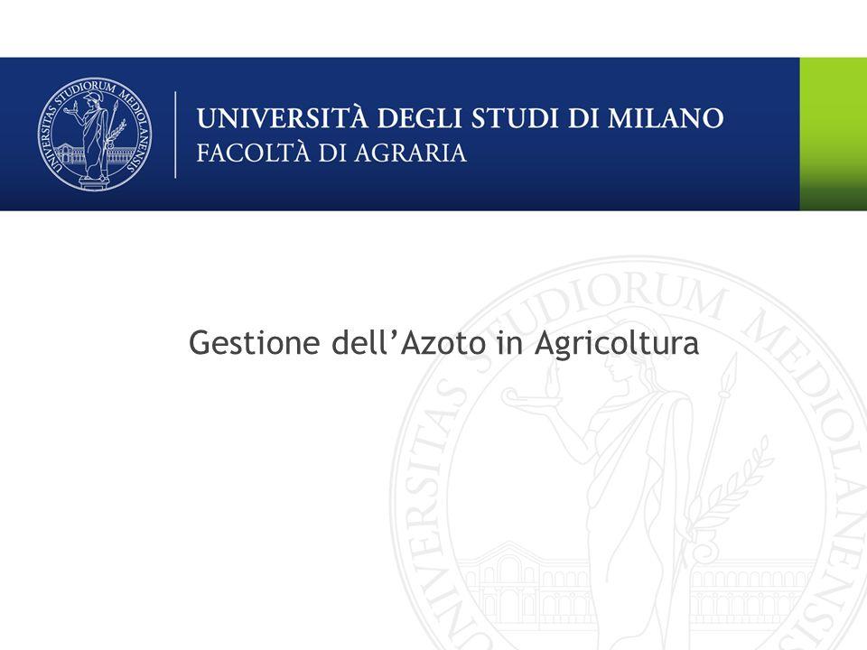Ecologia Agraria Ottimizzare la gestione dellazoto (comparto colturale) Irrigazione Le irrigazioni, soprattutto se abbondanti, possono causare eventi di percolazione dellacqua e conseguente lisciviazione dellazoto.