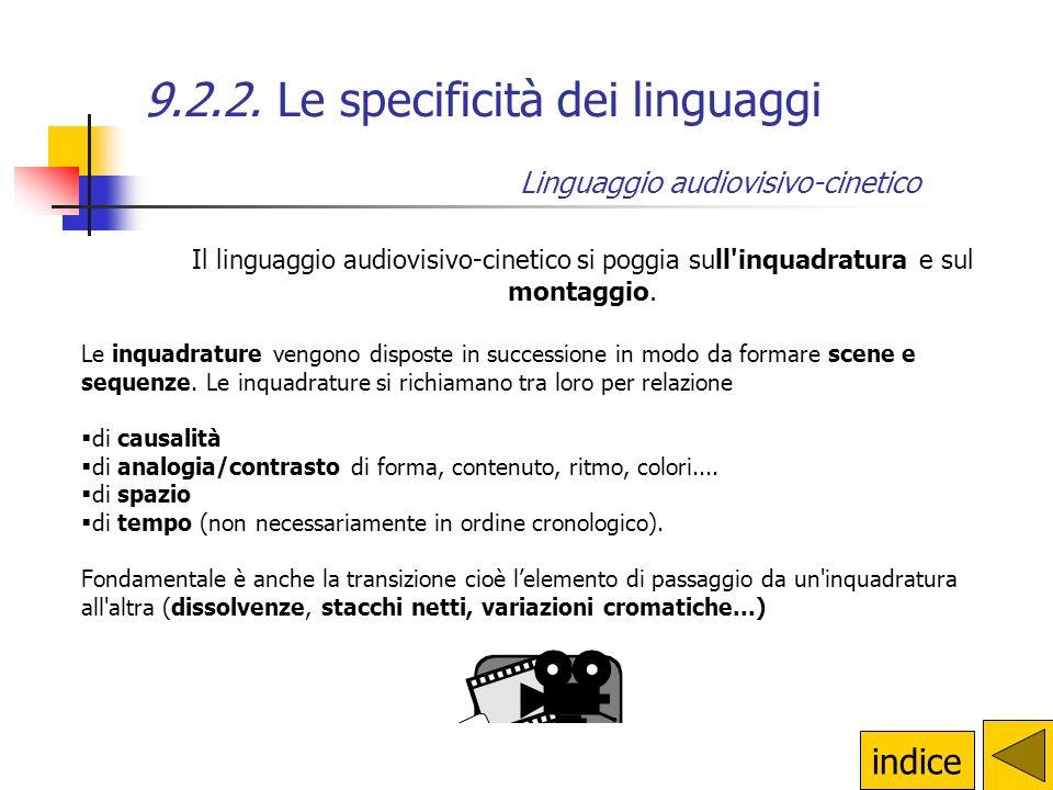 9.2.2. Le specificità dei linguaggi Linguaggio verbo-iconico: il fumetto Il montaggio Le dimensioni della pagina Il colore Lo stile del disegnatore i