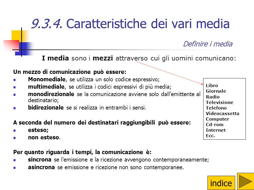 9.3.3. Comunicare via Internet La pagina web Per produrre un ipertesto in HTML occorrono, dunque: Un editor HTML (visuale o testuale) Un browser (per