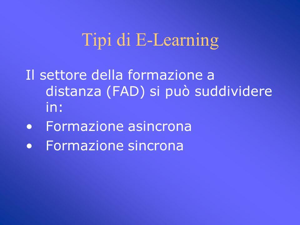 E-Learning Insegnare ed apprendere attraverso la rete Internet. Formazione a distanza (FaD)