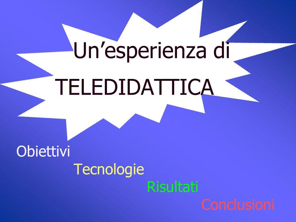 Unesperienza di TELEDIDATTICA Università degli studi di Bari I.R.C.C.S.