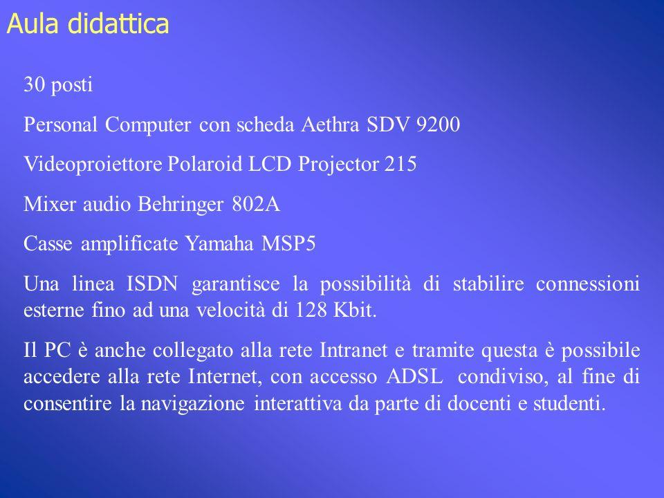 Tecnologie: Internet/Intranet AlunniDocenti In aggiunta alle lezioni in videoconferenza, è possibile reperire materiale didattico sui siti dellUniversità e dellI.R.C.C.S.