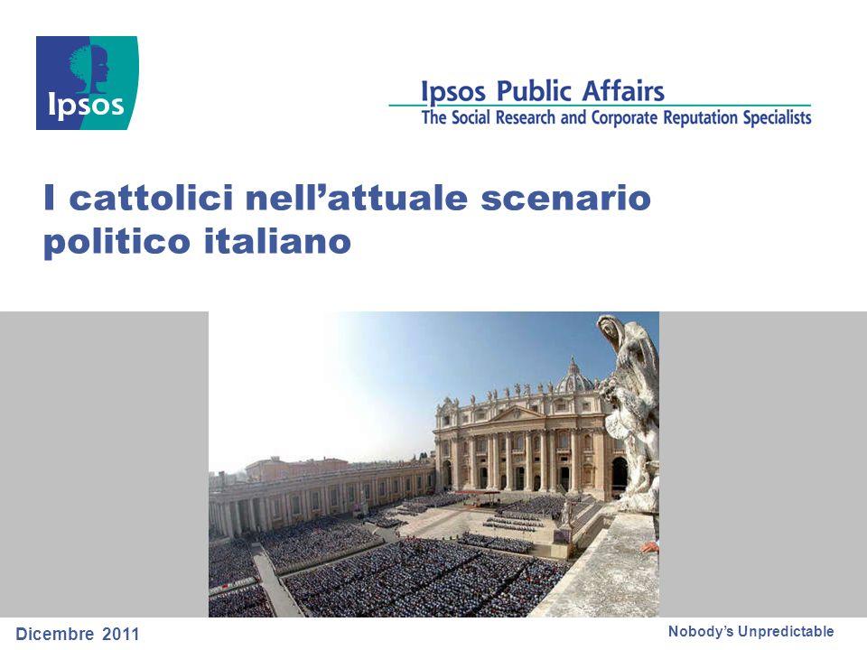 32 © 2011 Ipsos Base: 310 casi (coloro che credono oggi ci siano forze politiche che più delle altre rappresentano i valori dei cattolici italiani) E quale forza politica rappresenta più delle altre questi valori?