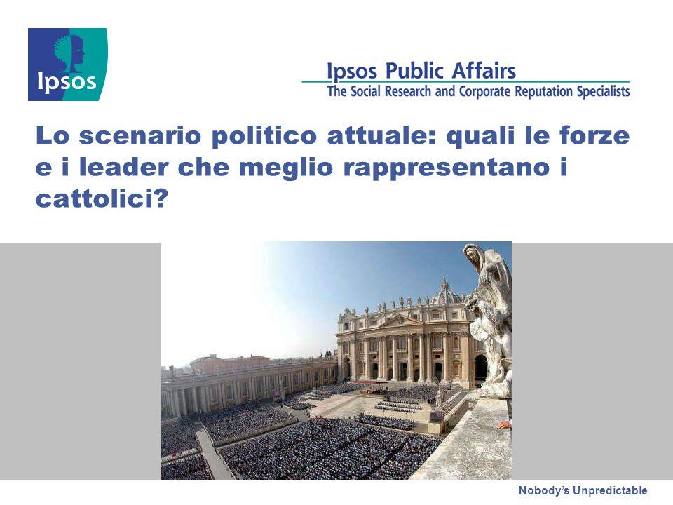 Nobodys Unpredictable Lo scenario politico attuale: quali le forze e i leader che meglio rappresentano i cattolici?
