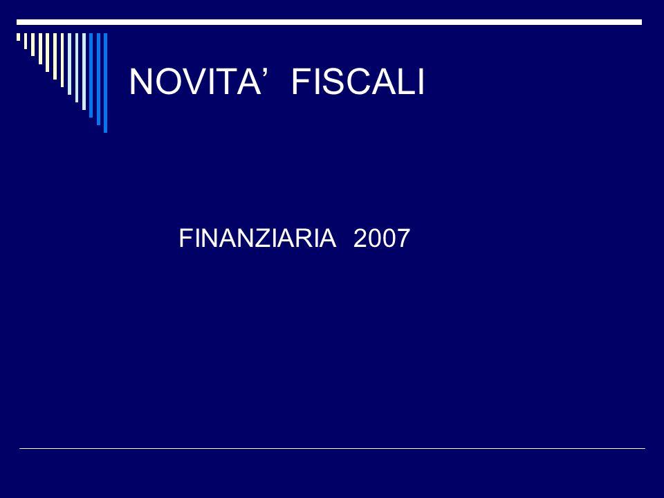 NOVITA FISCALI FINANZIARIA 2007