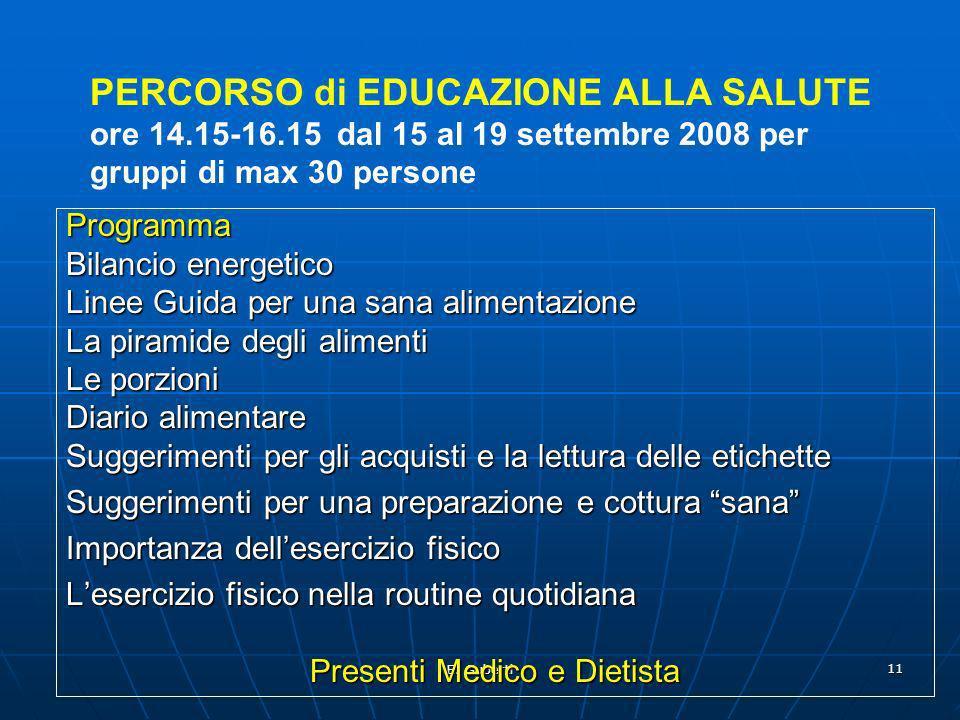 E. Guberti 11 Programma Bilancio energetico Linee Guida per una sana alimentazione La piramide degli alimenti Le porzioni Diario alimentare Suggerimen