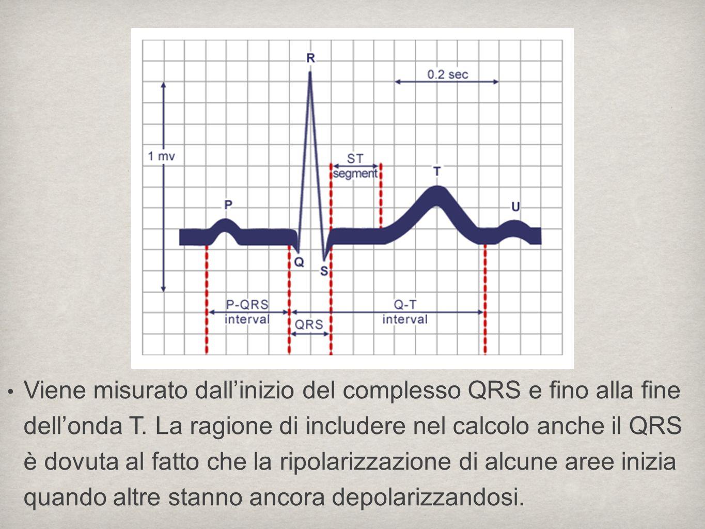 Viene misurato dallinizio del complesso QRS e fino alla fine dellonda T. La ragione di includere nel calcolo anche il QRS è dovuta al fatto che la rip