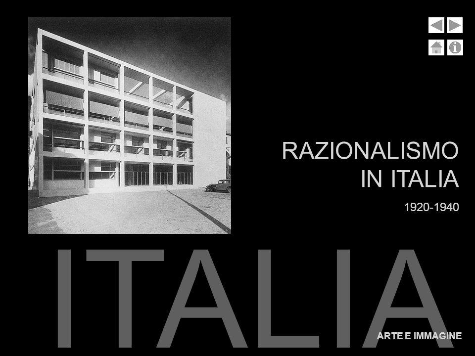 RAZIONALISMO IN ITALIA 1920-1940 RAZIONALISMO IN ITALIA ARTE E IMMAGINE