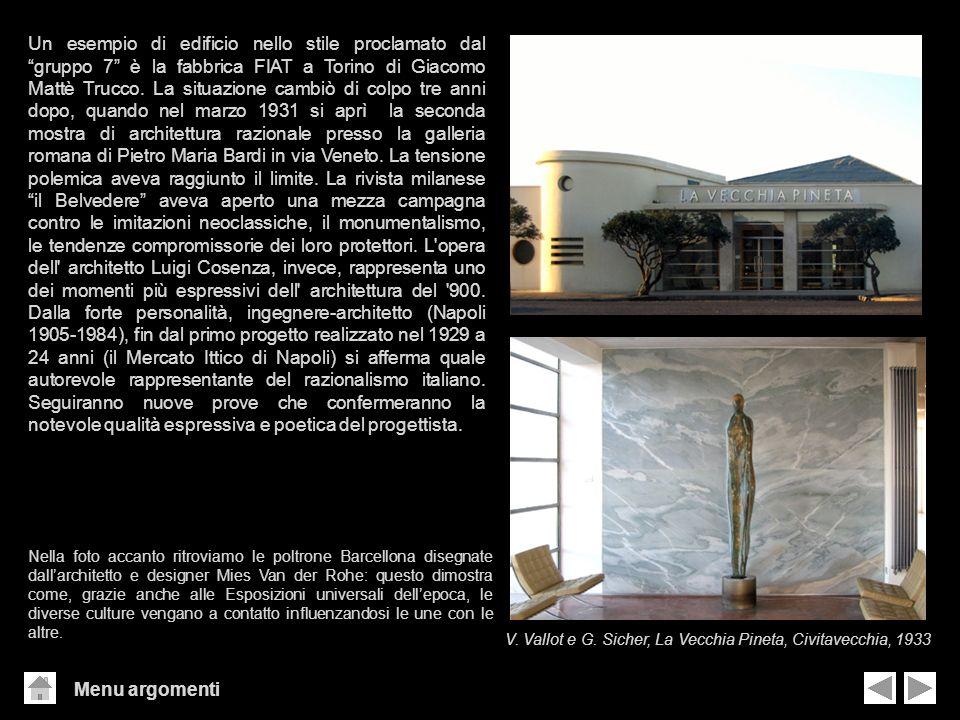 Menu argomenti Un esempio di edificio nello stile proclamato dal gruppo 7 è la fabbrica FIAT a Torino di Giacomo Mattè Trucco. La situazione cambiò di