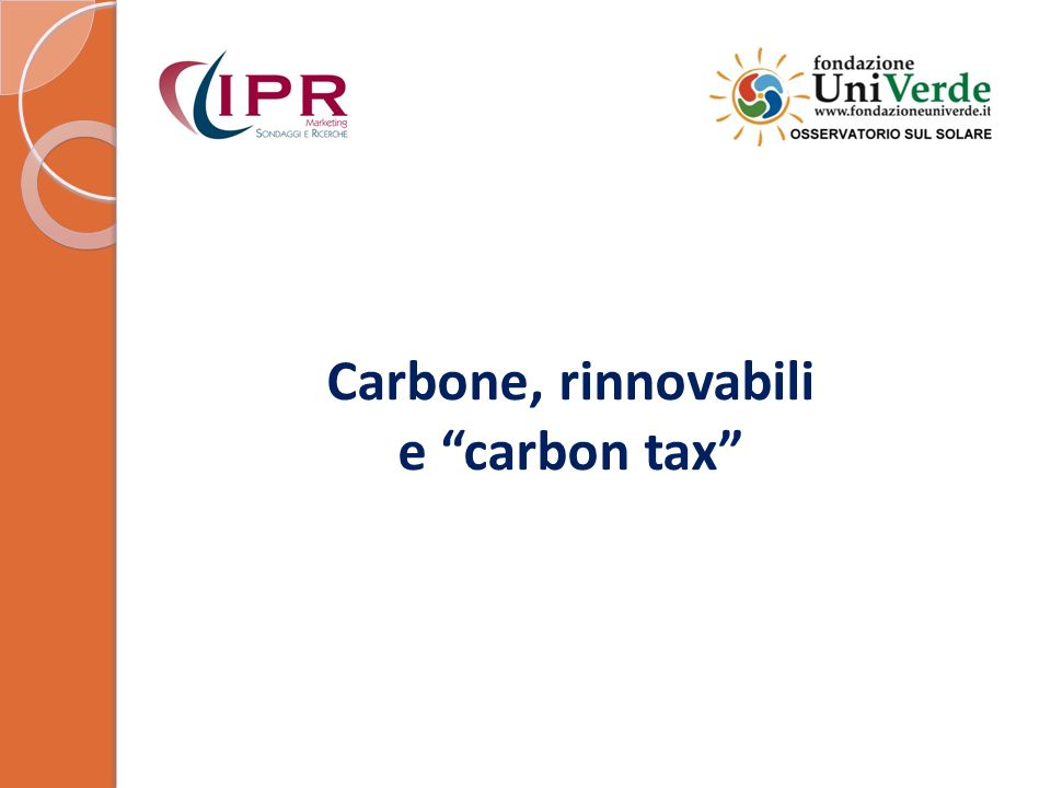Carbone, rinnovabili e carbon tax