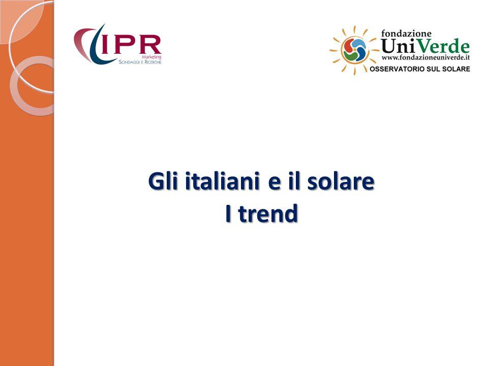 Gli italiani e il solare I trend